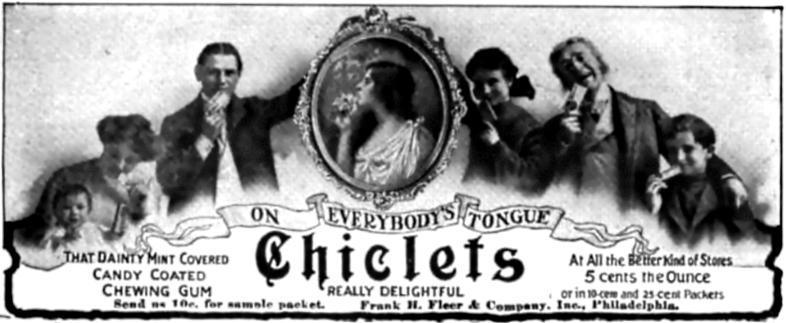Chiclets_advertisement,_1905