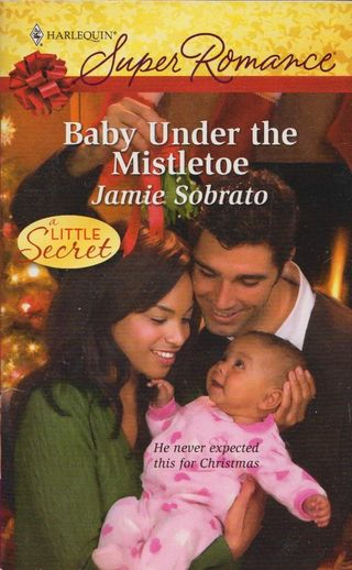 Baby under the mistletoe
