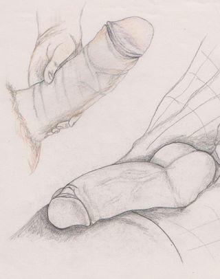 Penis drawings 1